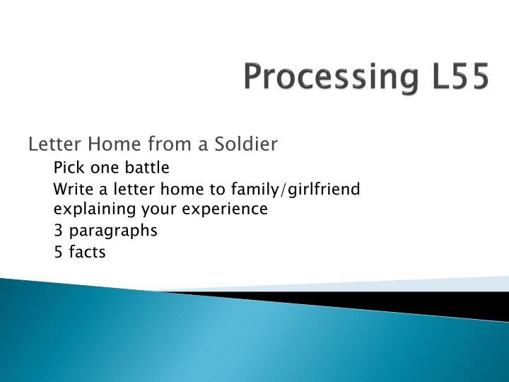 Processing L55