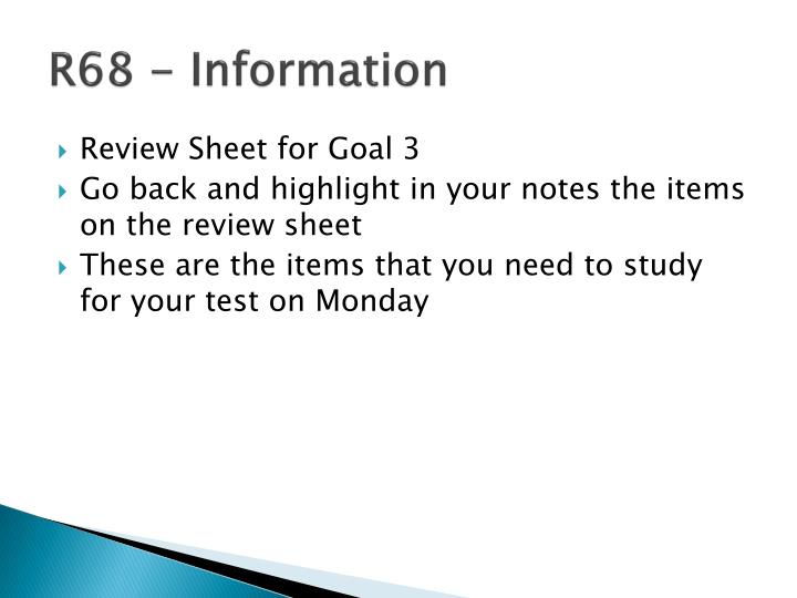 R68 - Information