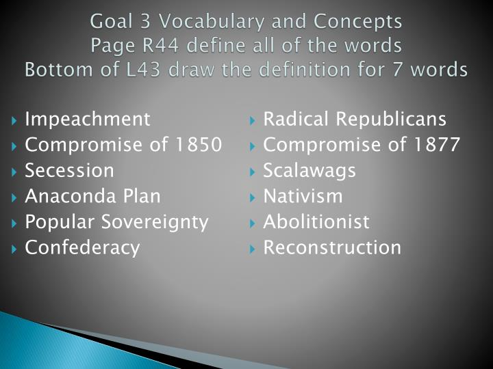 Goal 3 Vocabulary and Concepts