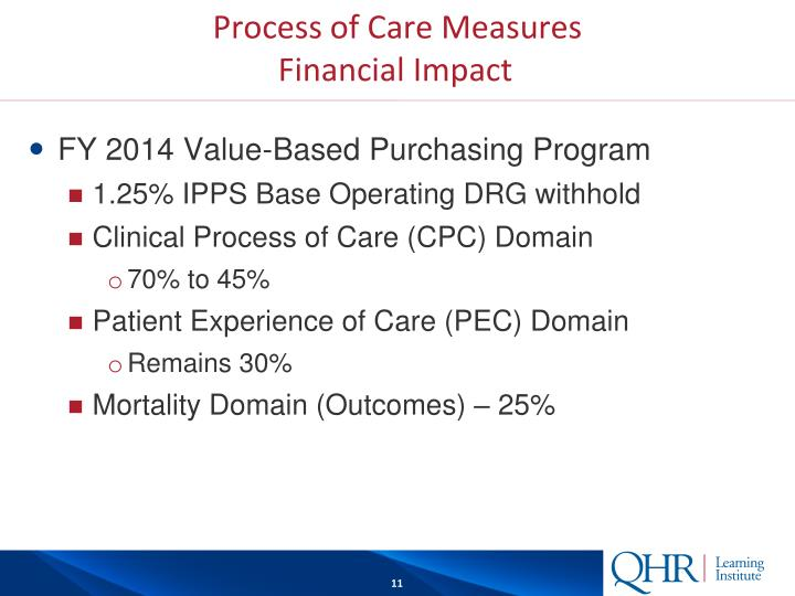 Process of Care Measures