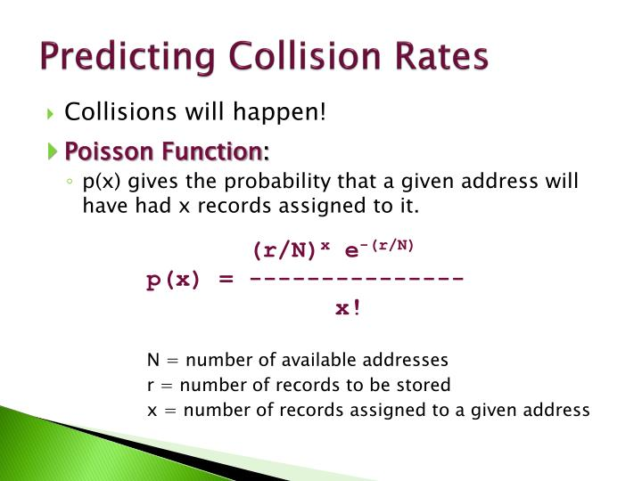 Predicting Collision Rates