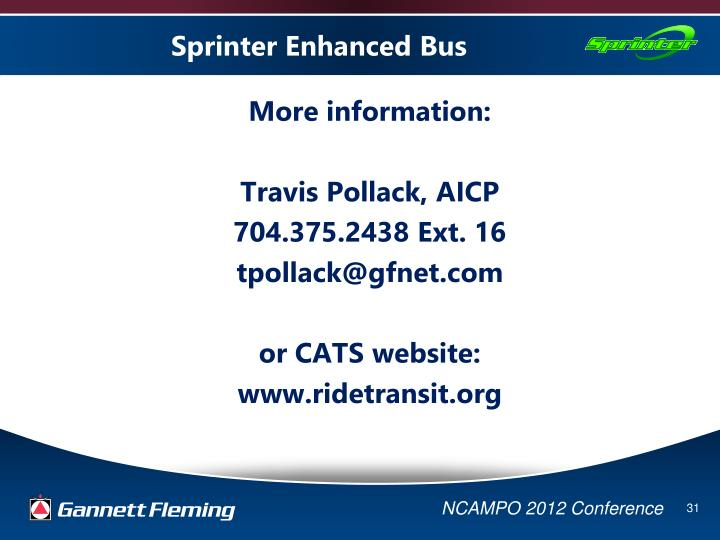 Sprinter Enhanced Bus