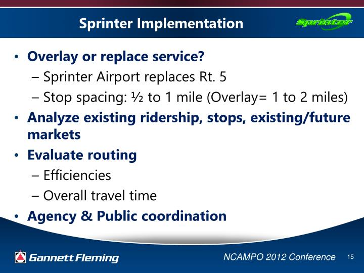 Sprinter Implementation