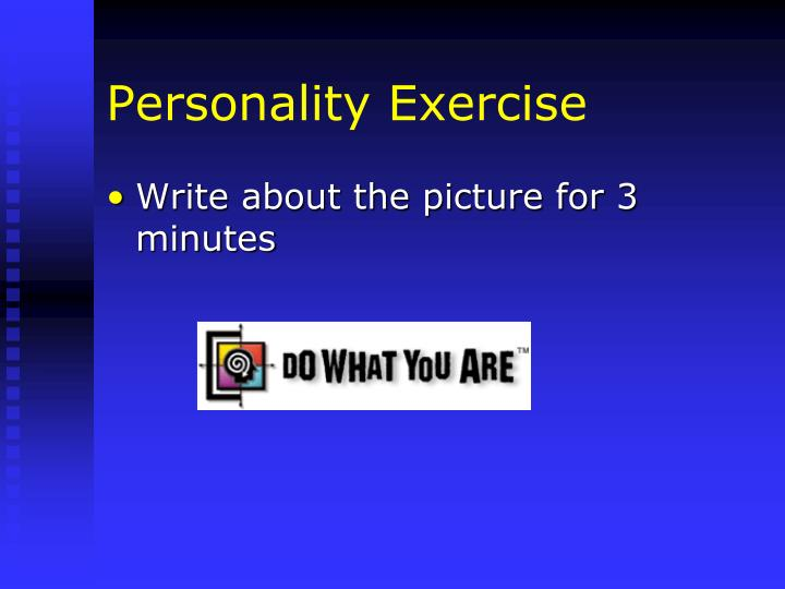 Personality Exercise