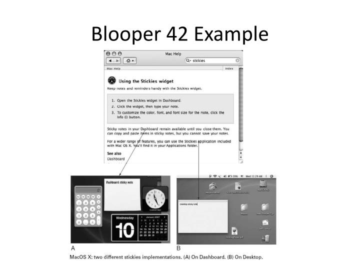 Blooper 42 Example