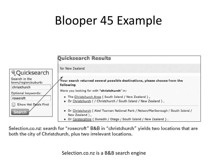 Blooper 45 Example