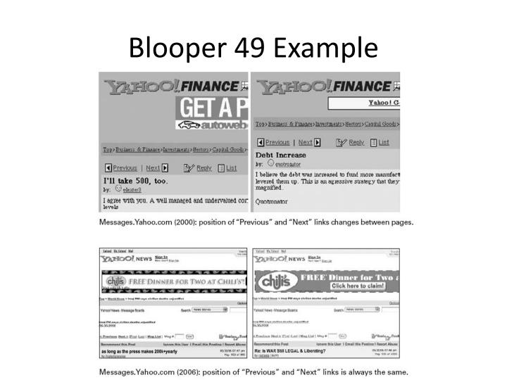 Blooper 49 Example