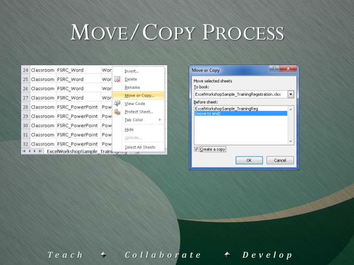 Move/Copy Process