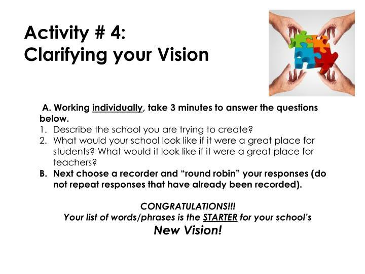 Activity # 4: