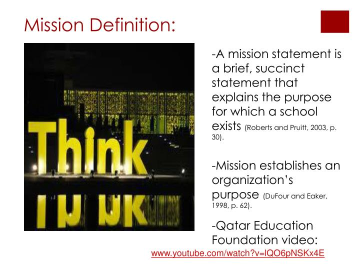 Mission Definition: