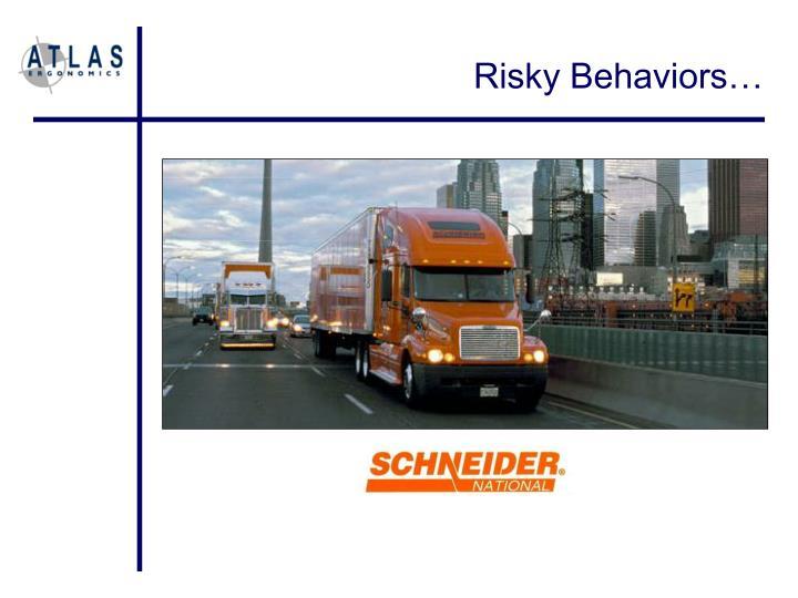 Risky Behaviors…