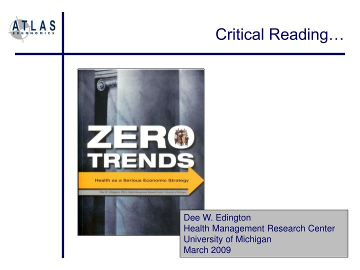 Critical Reading…