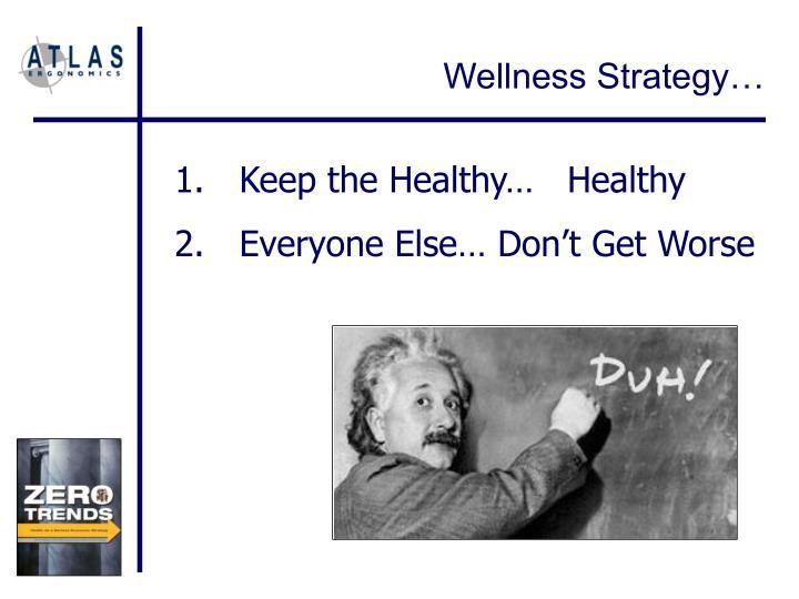 Wellness Strategy…