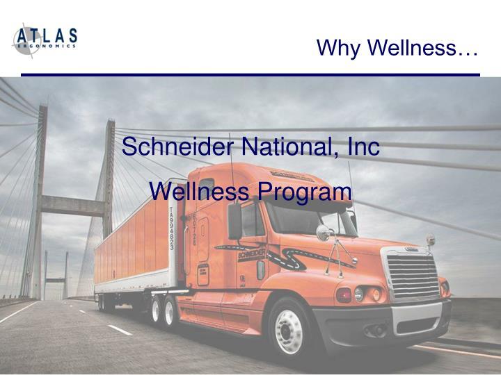 Why Wellness…