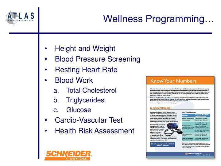 Wellness Programming…