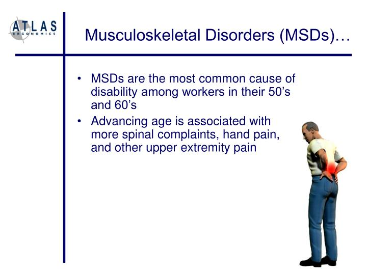 Musculoskeletal Disorders (MSDs)…