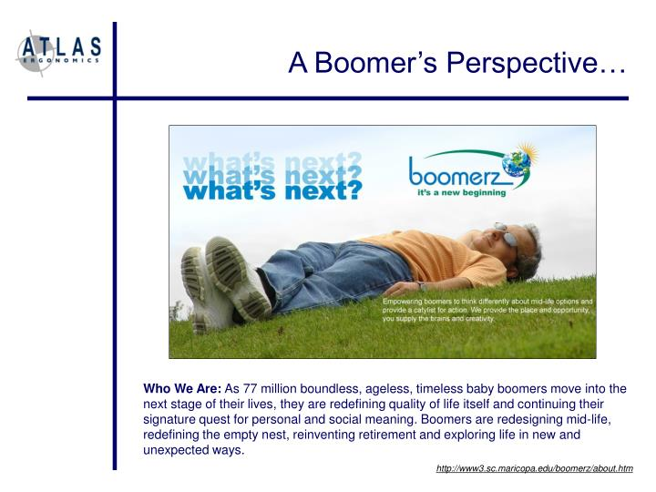 A Boomer's Perspective…