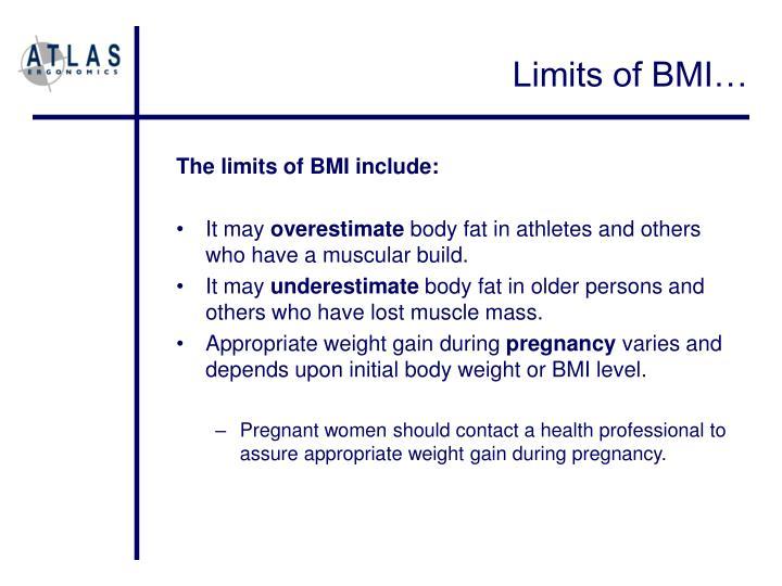Limits of BMI…