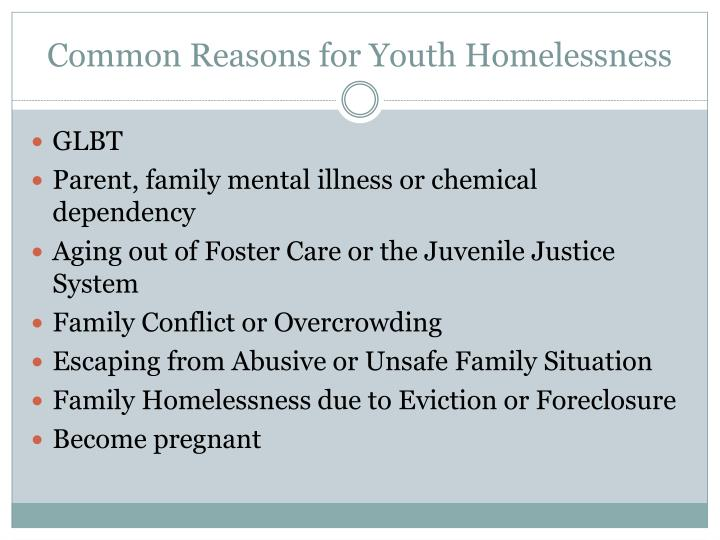 Common Reasons for Youth Homelessness