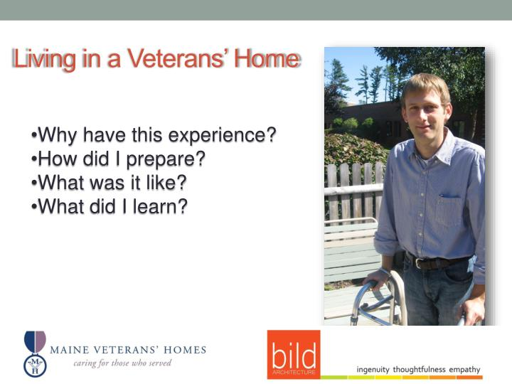 Living in a Veterans' Home