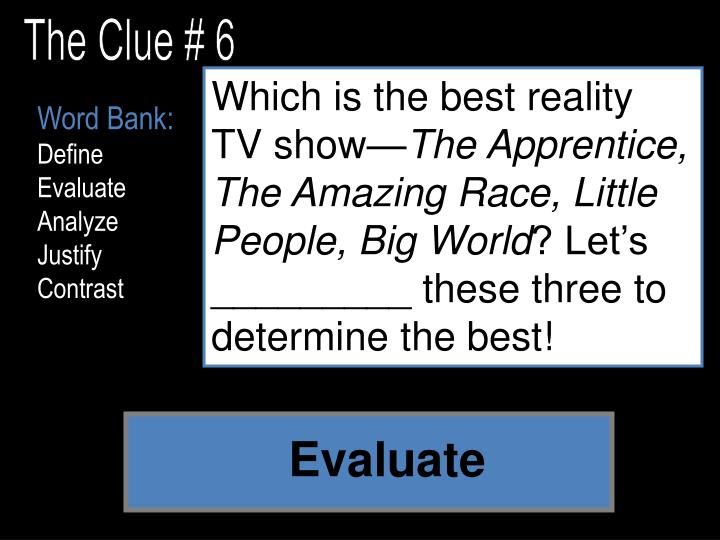 The Clue # 6