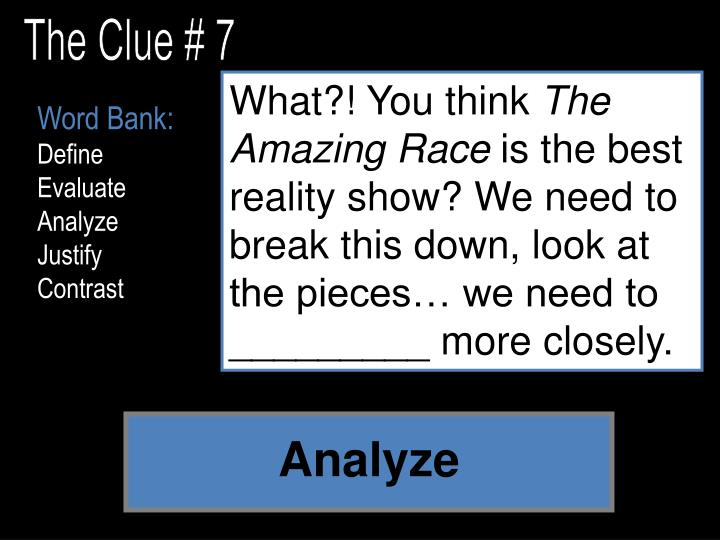 The Clue # 7
