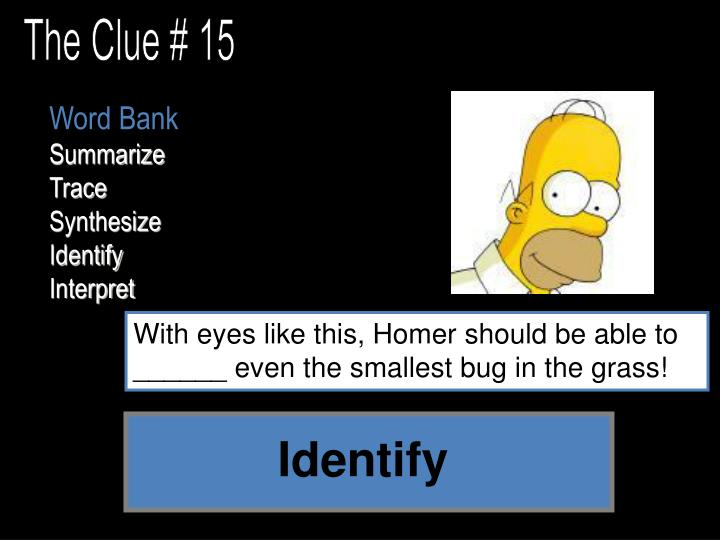 The Clue # 15