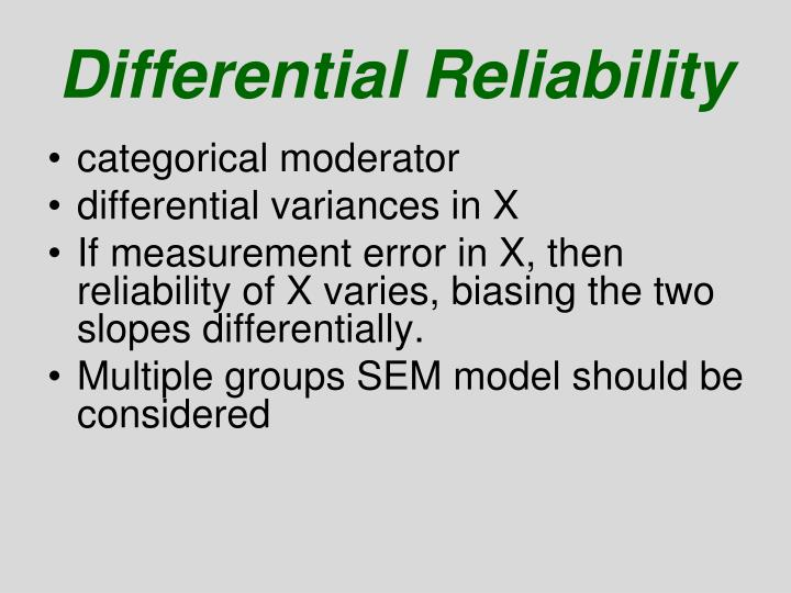 Differential Reliability