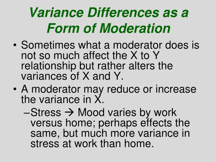 Variance Differences as