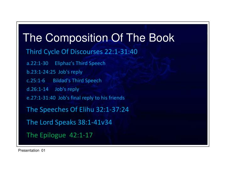 The Composition Of The Book