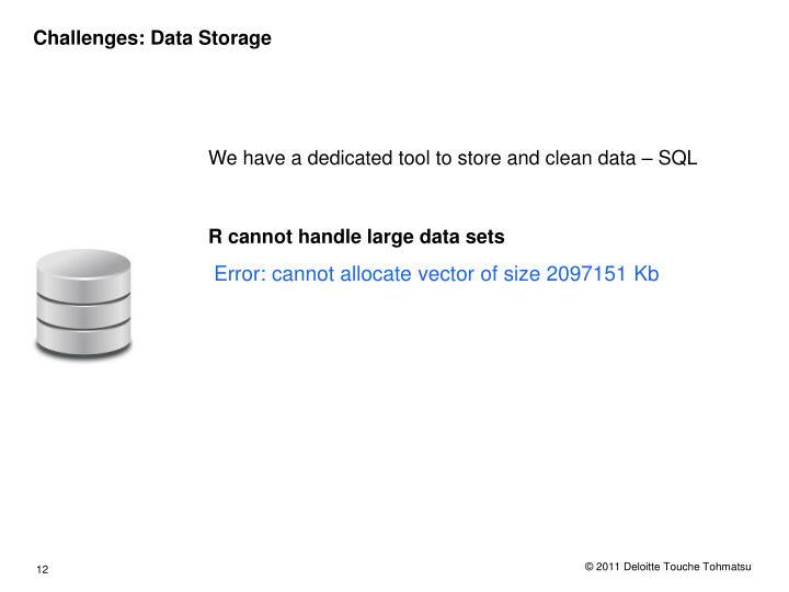 Challenges: Data