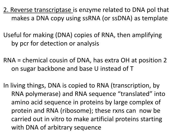 2. Reverse transcriptase