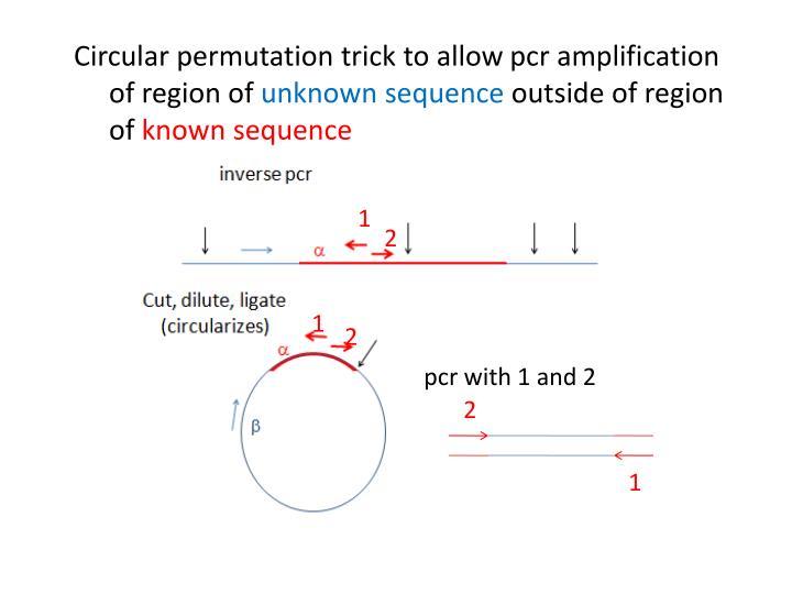 Circular permutation trick to allow