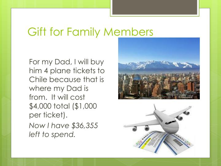 Gift for Family Members