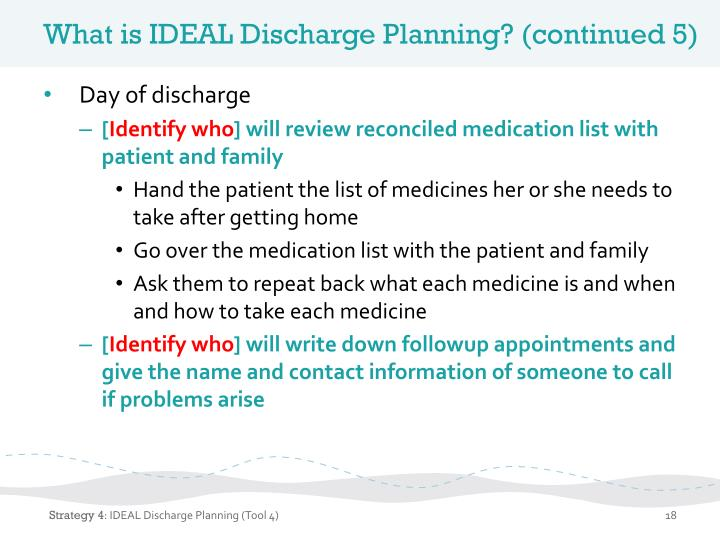 What is IDEAL Discharge