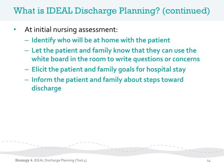 What is IDEAL Discharge Planning?