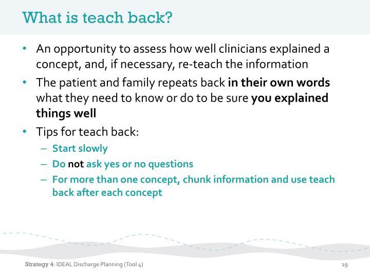 What is teach