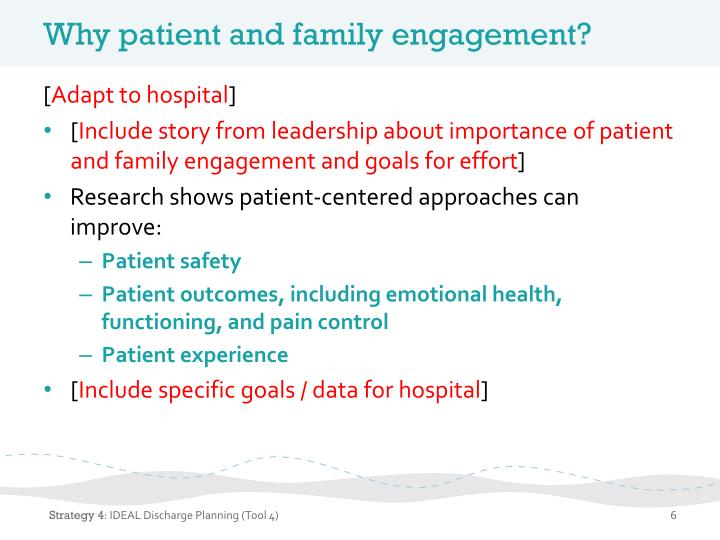 Why patient and family engagement?