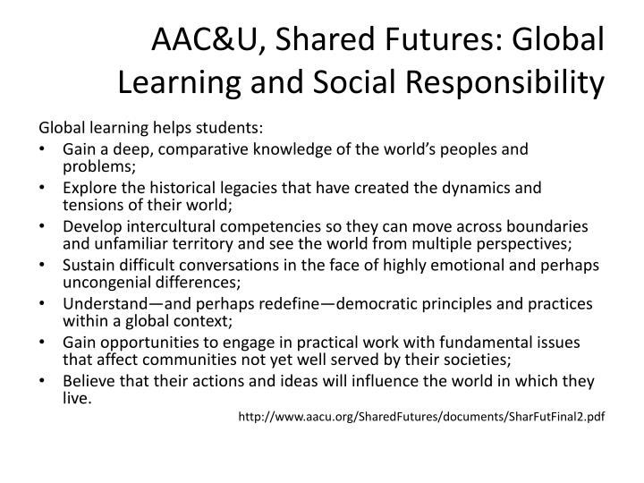 AAC&U, Shared Futures: Global Learning and Social Responsibility