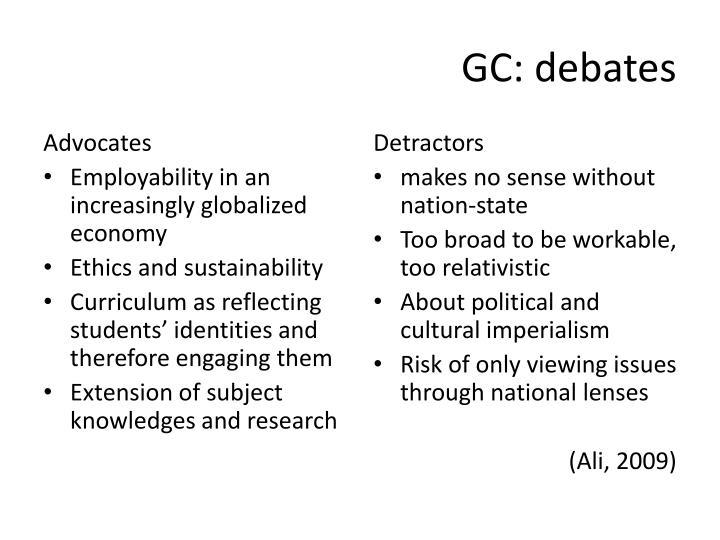 GC: debates
