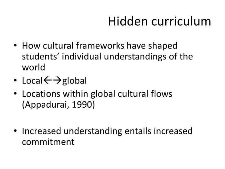 Hidden curriculum