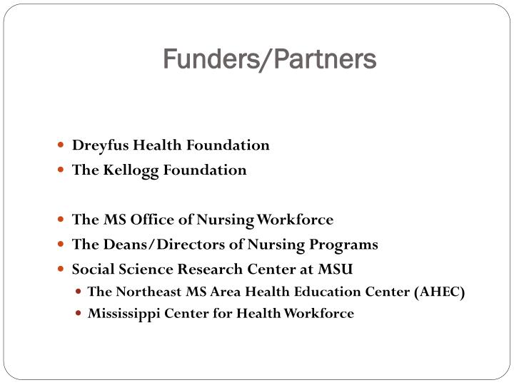 Funders/Partners