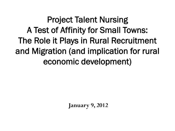 Project Talent Nursing