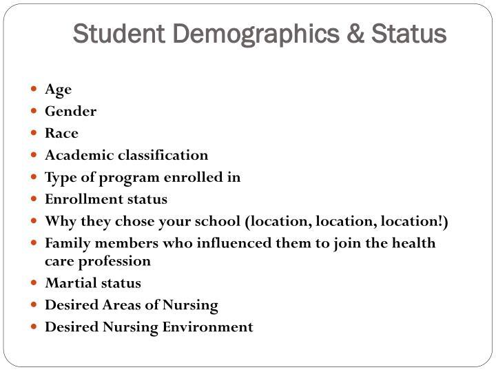 Student Demographics & Status