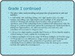grade 1 continued