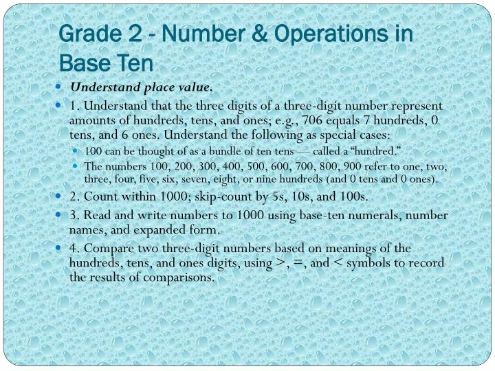 Grade 2 - Number & Operations in Base Ten
