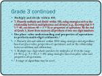 grade 3 continued