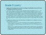grade 5 cont