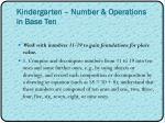 kindergarten number operations in base ten