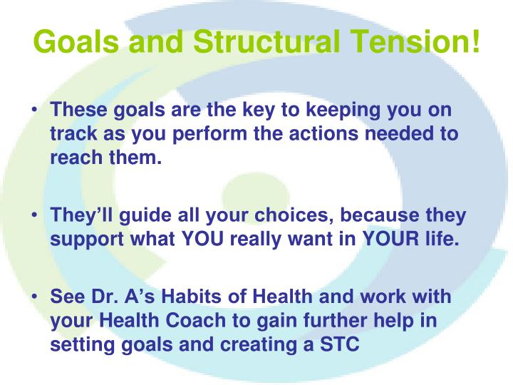 Goals and Structural Tension!